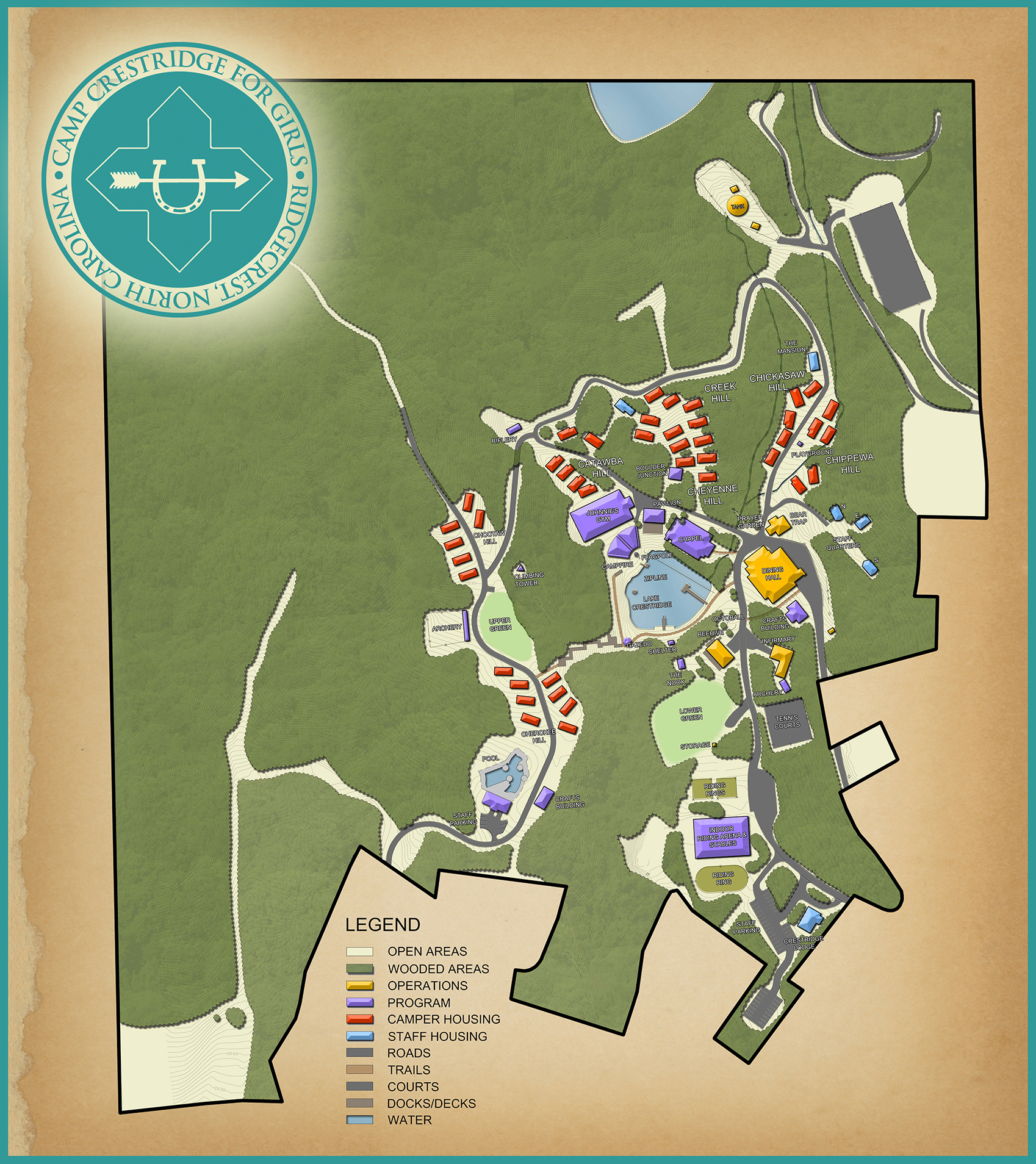 Camp Crestridge Map